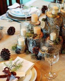 candele natale tavola