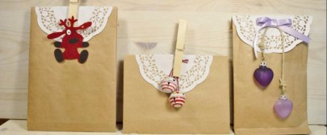 carta, sacchetto, pane, regalo, natale