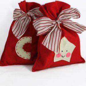 regalo, busta, feltro, natale