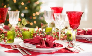 melograno decorazioni tavola natale