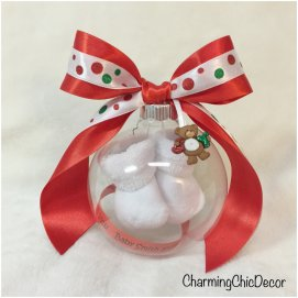 Floating-Baby-Bootie-Pregnancy-Reveal-Ornament