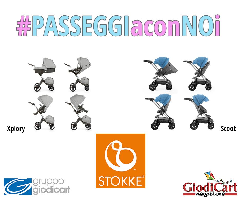 #PASSEGGIaconNOi: Stokke Xplory e Scoot, collezione2017