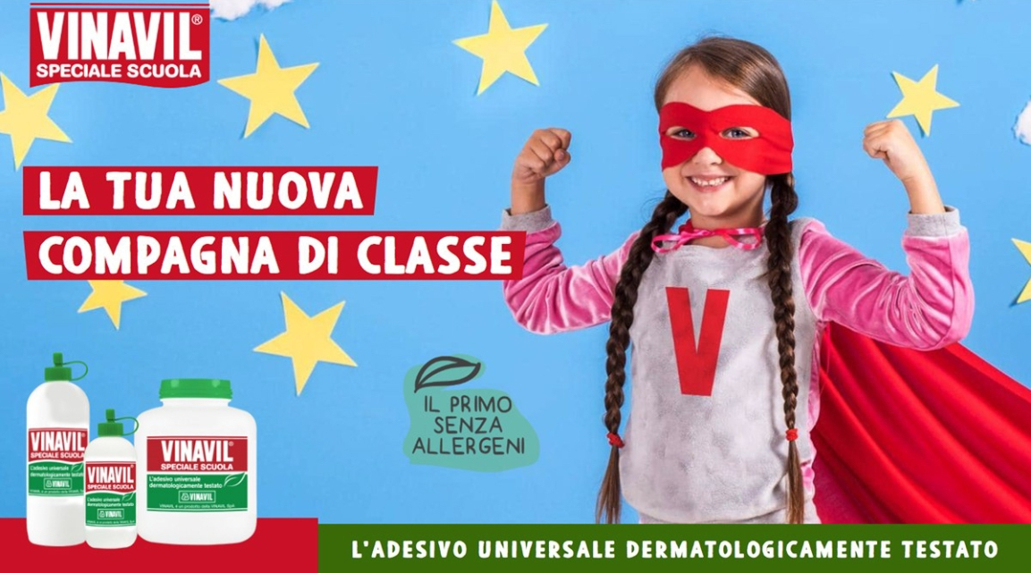 La tua nuova compagna di classe: Vinavil SpecialeScuola!