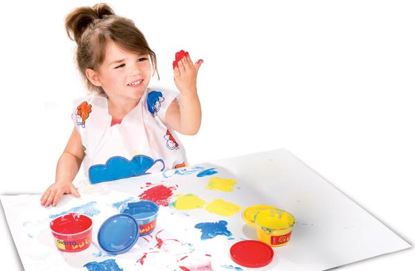Utilizzare i colori a dita per stimolare l'apprendimento e lo sviluppo deibambini!